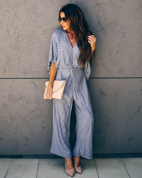 Cosmos Polka Dot Twist Jumpsuit - FINAL SALE