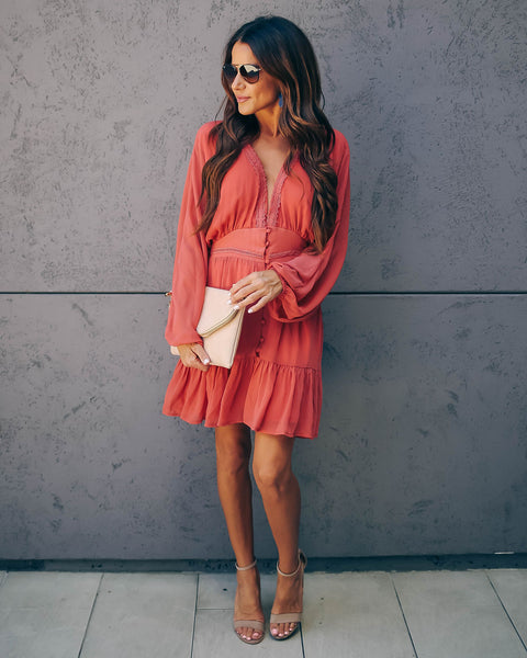 Huda Button Down Ruffle Dress - FINAL SALE