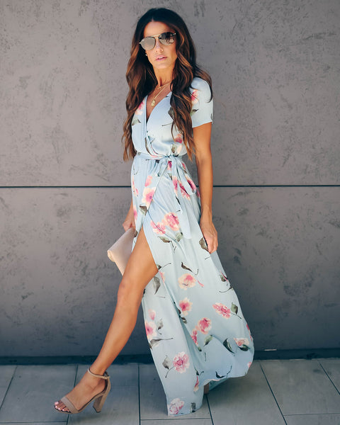 Trunk Show Floral Bardot Wrap Maxi Dress - FINAL SALE