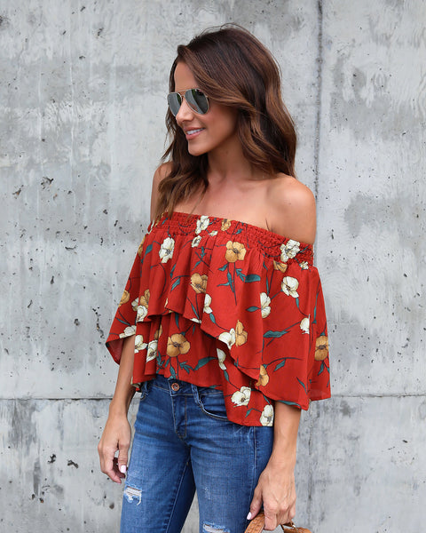 Marigold Memories Off The Shoulder Top - FINAL SALE