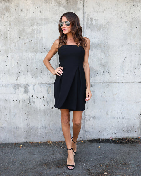 Jessica Strapless Dress - Black - FINAL SALE