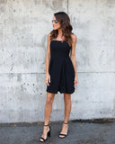 Jessica Strapless Dress - Black