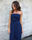 Melanie Strapless Jumpsuit - Navy - FINAL SALE