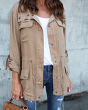 Urban Safari Cargo Jacket - Camel