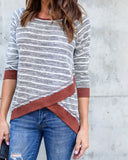 Cornell Striped Knit Top