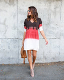 Carlsbad Tie Dye Keyhole Cotton Knit Dress - FINAL SALE