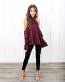 Sarina Cold Shoulder Blouse