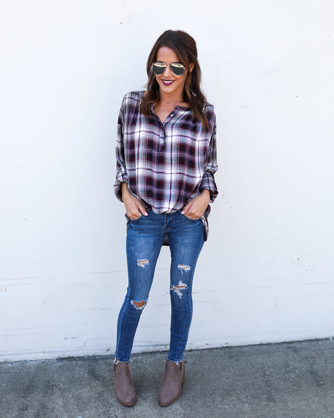 Cecile Plaid Top - FINAL SALE