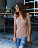 Karson Thermal Knit - Rosy Brown