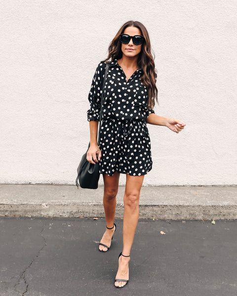 Dani Button Down Tie Shirt Dress