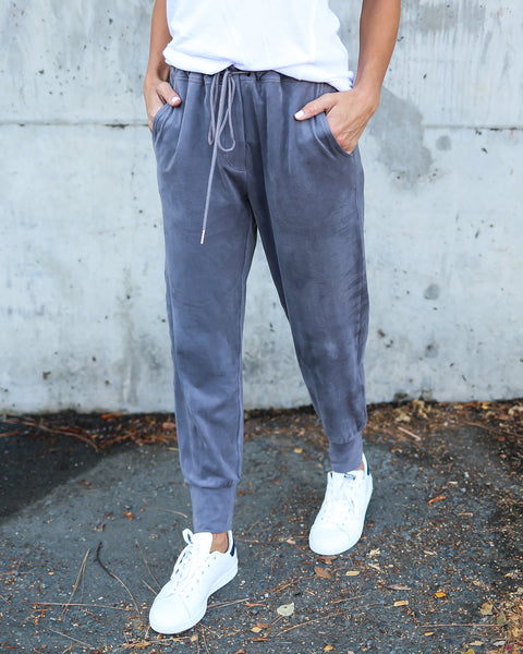 Persuede Me Pocketed Joggers - Charcoal