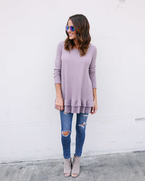 Karlie Thermal Top - Mauve - FINAL SALE