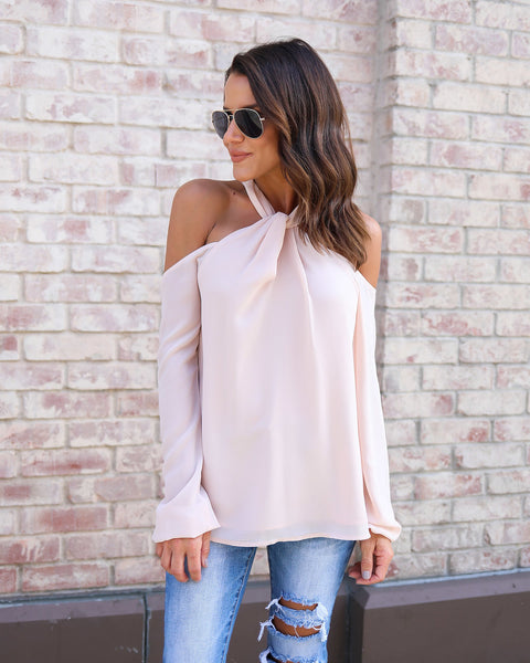Up All Night Top - Blush