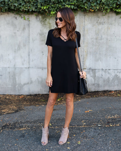 On The Rise Dress - Black