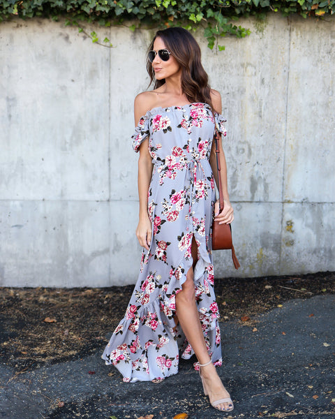 Rose Garden High Low Maxi Dress