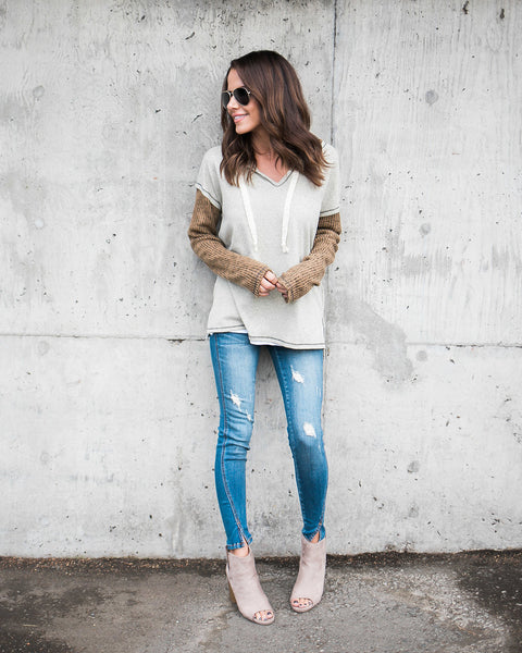 Clear As Day Contrast Knit Top