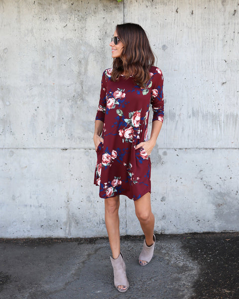 Floral Storm Pocketed Dress