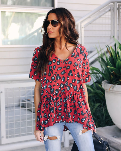Welcome To The Jungle Peplum Blouse