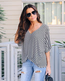 Come Alive Striped Twist Top