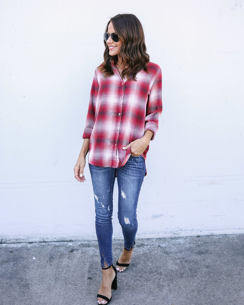 Tymber Plaid Top - FINAL SALE