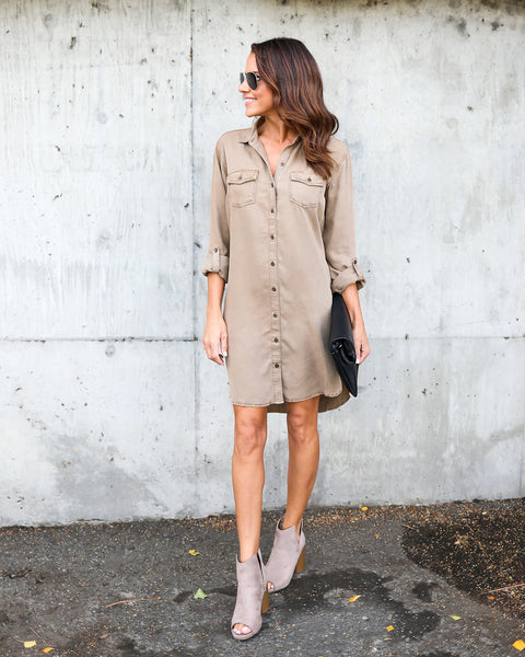 Emmie Tencel Button Down Dress