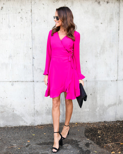 Magenta Muse Wrap Dress