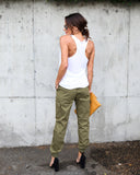 On The Run Pocketed Cargo Joggers
