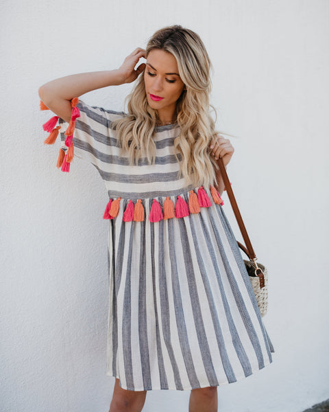 Chiquita Cotton Tassel Dress