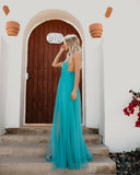 Talk Of The Town Maxi Dress - Teal