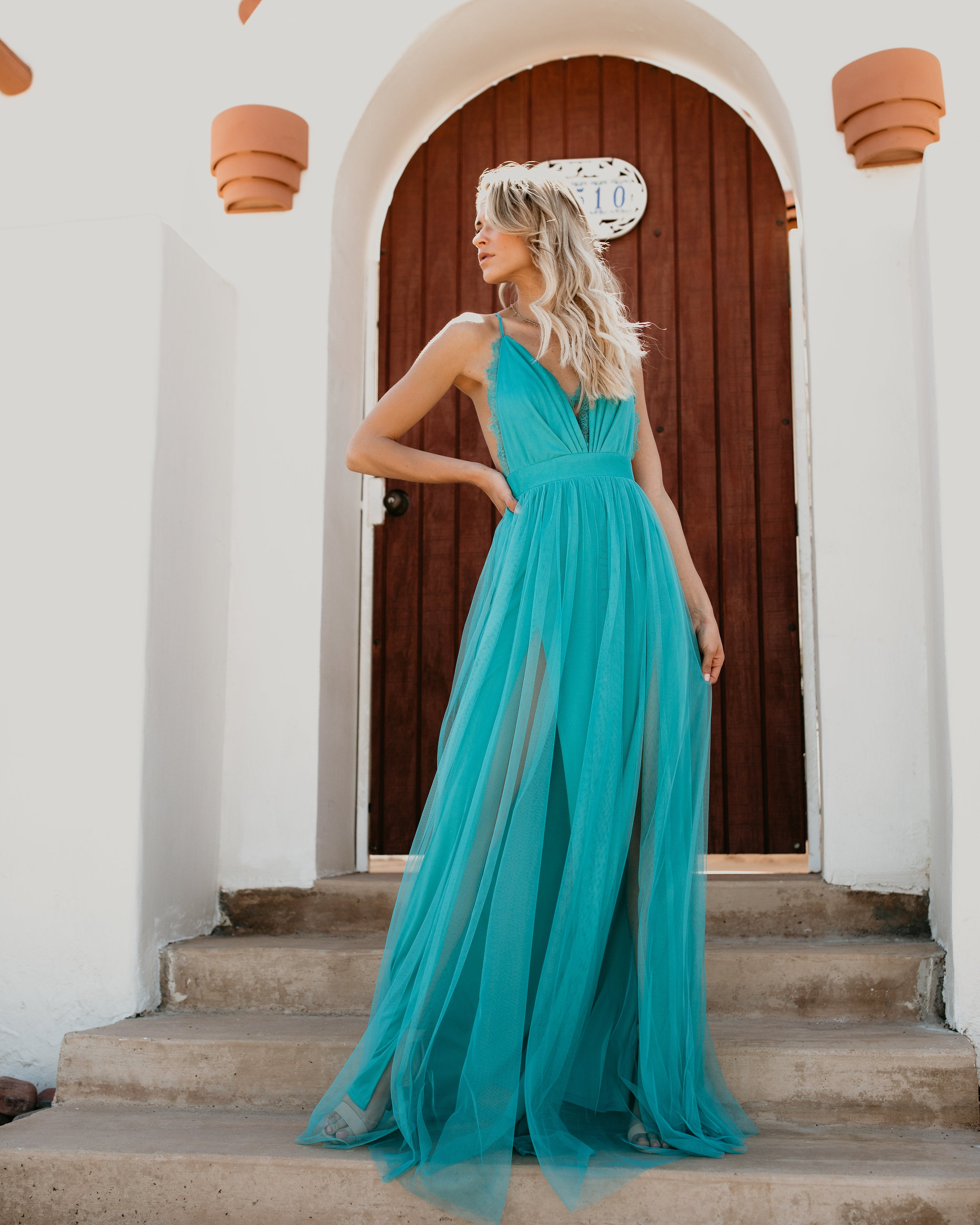 Talk Of The Town Maxi Dress - Teal – VICI