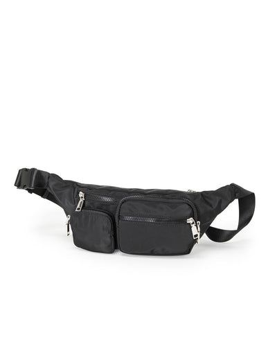 Track Nylon Sling Bag - Black