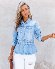 Traynor Belted Denim Jacket view 3
