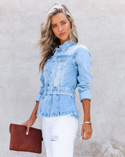 Traynor Belted Denim Jacket view 8