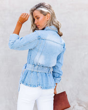 Traynor Belted Denim Jacket view 2