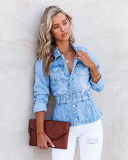 Traynor Belted Denim Jacket view 1