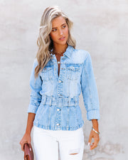 Traynor Belted Denim Jacket view 10