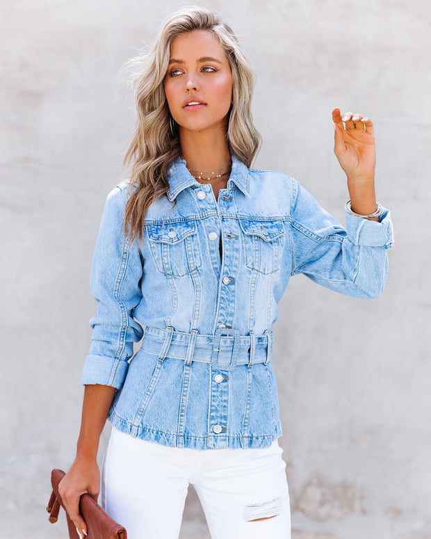 Traynor Belted Denim Jacket view 11