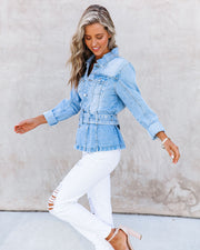Traynor Belted Denim Jacket view 7