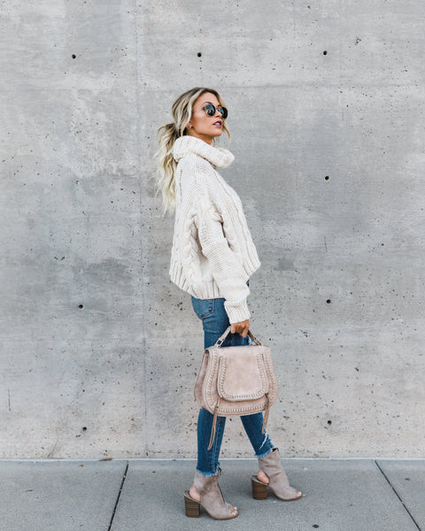 Editor's Pick Cable Knit Sweater - Cream - FINAL SALE