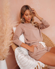 Unwind Pocketed Knit Shorts - Brown Sugar - FINAL SALE