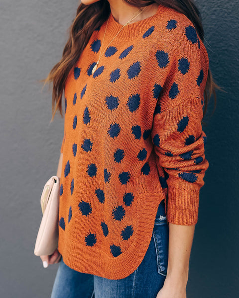 No Trace Spotted Knit Sweater - FINAL SALE