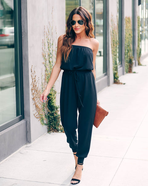 Supply And Demand Strapless Knit Jumpsuit