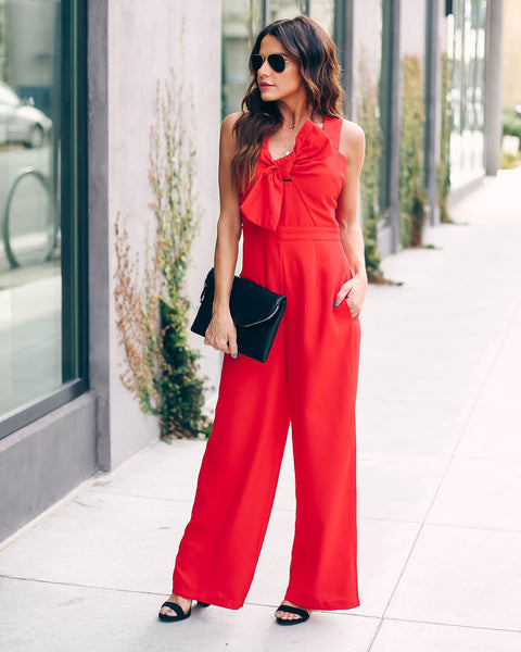Love You Today, Tomorrow, Forever Pocketed Jumpsuit