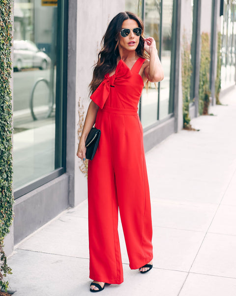Love You Today, Tomorrow, Forever Pocketed Jumpsuit - FINAL SALE