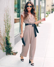 Workweek And Beyond Tie Jumpsuit - FINAL SALE
