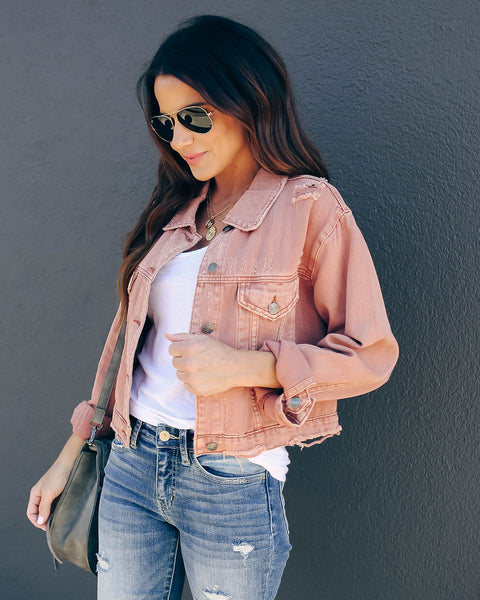 Lizzy Distressed Denim Jacket