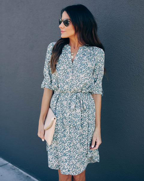 Lots Of Fun Printed Button Down Dress