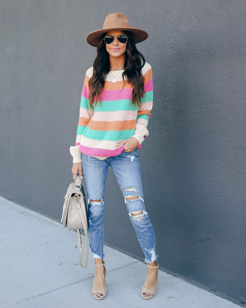 Count Your Blessings Striped Knit Sweater