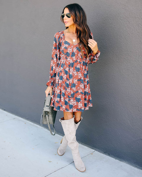 Perfection Floral Ruffle Dress - FINAL SALE