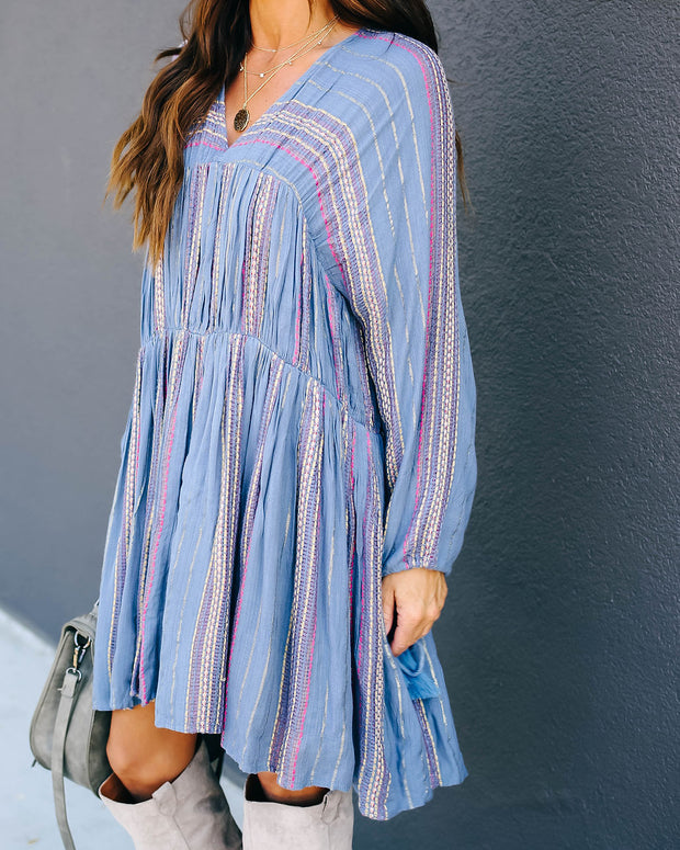 Happily Ever Laughter Woven Tassel Dress - FINAL SALE